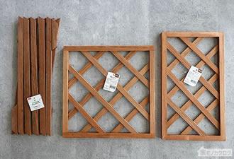 100均セリアで売っている木製トレリス・ラティスの画像
