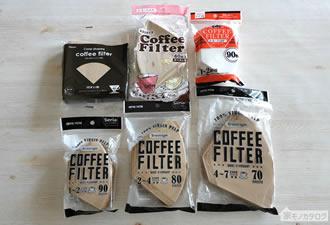 100均セリアで売っているコーヒーフィルターの画像