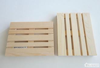 100均で売っているパレットコースター(木製パレット)の画像